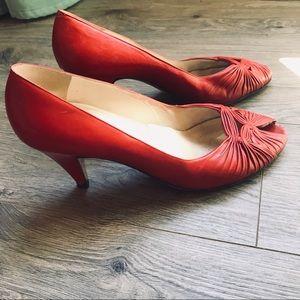 Vintage Italian leather heels - 9